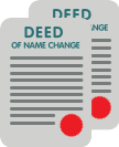 Adult deed poll icon